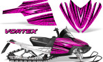 Arctic Cat M Series CrossFire Graphics Kit Vortex Black Pink 150x90 - Arctic Cat M Series Crossfire Graphics
