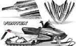 Arctic Cat M Series CrossFire Graphics Kit Vortex Black White 150x90 - Arctic Cat M Series Crossfire Graphics