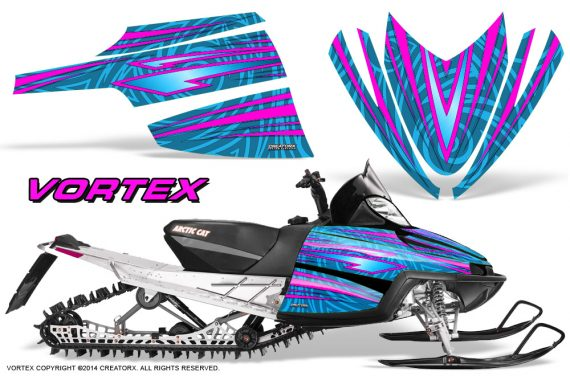 Arctic-Cat-M-Series-CrossFire-Graphics-Kit-Vortex-Pink-BlueIce