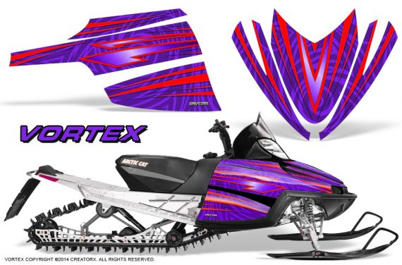 Arctic-Cat-M-Series-CrossFire-Graphics-Kit-Vortex-Red-Purple