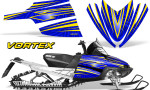 Arctic Cat M Series CrossFire Graphics Kit Vortex Yellow Blue 150x90 - Arctic Cat M Series Crossfire Graphics