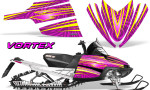 Arctic Cat M Series CrossFire Graphics Kit Vortex Yellow Pink 150x90 - Arctic Cat M Series Crossfire Graphics