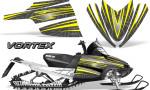 Arctic Cat M Series CrossFire Graphics Kit Vortex Yellow Silver 150x90 - Arctic Cat M Series Crossfire Graphics