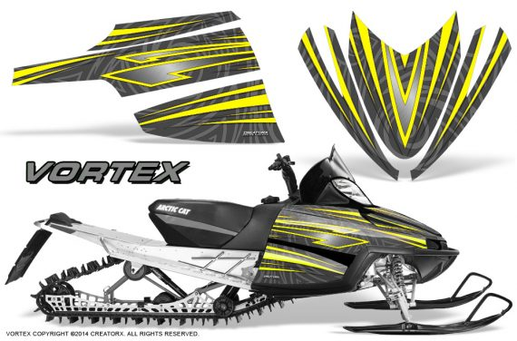Arctic-Cat-M-Series-CrossFire-Graphics-Kit-Vortex-Yellow-Silver