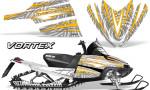 Arctic Cat M Series CrossFire Graphics Kit Vortex Yellow White 150x90 - Arctic Cat M Series Crossfire Graphics