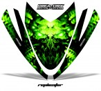 Arctic-Cat-M-Series-Crossfire-Hood-CreatorX-Graphics-Kit-Alien-Replicator-Green