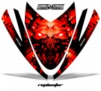 Arctic-Cat-M-Series-Crossfire-Hood-CreatorX-Graphics-Kit-Alien-Replicator-Red