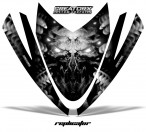 Arctic-Cat-M-Series-Crossfire-Hood-CreatorX-Graphics-Kit-Alien-Replicator-Silver
