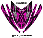 Arctic-Cat-M-Series-Crossfire-Hood-CreatorX-Graphics-Kit-Bolt-Thrower-Pink