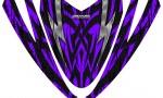 Arctic Cat M Series Crossfire Hood CreatorX Graphics Kit Bolt Thrower Purple 150x90 - Arctic Cat M Series Crossfire Hood Graphics
