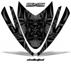 Arctic-Cat-M-Series-Crossfire-Hood-CreatorX-Graphics-Kit-Skullcified-Black
