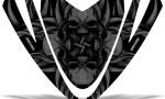 Arctic Cat M Series Crossfire Hood CreatorX Graphics Kit Skullcified Black 150x90 - Arctic Cat M Series Crossfire Hood Graphics