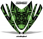 Arctic-Cat-M-Series-Crossfire-Hood-CreatorX-Graphics-Kit-Skullcified-Flat-Green
