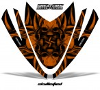 Arctic-Cat-M-Series-Crossfire-Hood-CreatorX-Graphics-Kit-Skullcified-Flat-Orange