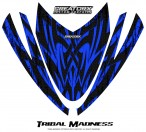 Arctic-Cat-M-Series-Crossfire-Hood-CreatorX-Graphics-Kit-Tribal-Madness-Blue