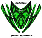 Arctic-Cat-M-Series-Crossfire-Hood-CreatorX-Graphics-Kit-Tribal-Madness-Green
