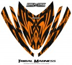 Arctic-Cat-M-Series-Crossfire-Hood-CreatorX-Graphics-Kit-Tribal-Madness-Orange