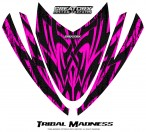 Arctic-Cat-M-Series-Crossfire-Hood-CreatorX-Graphics-Kit-Tribal-Madness-Pink