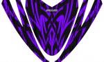 Arctic Cat M Series Crossfire Hood CreatorX Graphics Kit Tribal Madness Purple 150x90 - Arctic Cat M Series Crossfire Hood Graphics