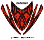 Arctic-Cat-M-Series-Crossfire-Hood-CreatorX-Graphics-Kit-Tribal-Madness-Red