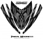 Arctic-Cat-M-Series-Crossfire-Hood-CreatorX-Graphics-Kit-Tribal-Madness-Silver