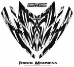 Arctic-Cat-M-Series-Crossfire-Hood-CreatorX-Graphics-Kit-Tribal-Madness-White