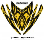 Arctic-Cat-M-Series-Crossfire-Hood-CreatorX-Graphics-Kit-Tribal-Madness-Yellow