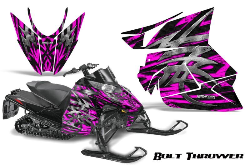 Arctic-Cat-Pro-Climb-Cross-2012-CreatorX-Graphics-Kit-.Bolt-Thrower-Pink