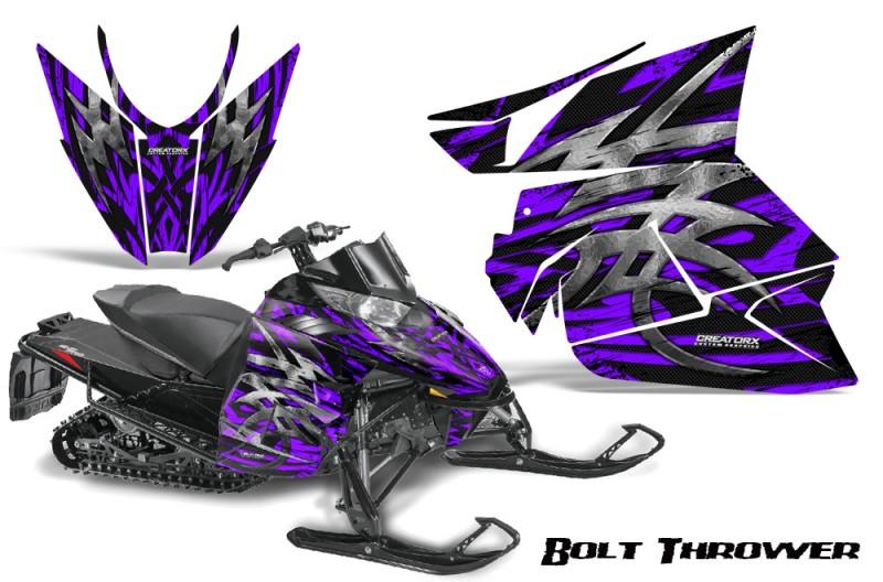 Arctic-Cat-Pro-Climb-Cross-2012-CreatorX-Graphics-Kit-.Bolt-Thrower-Purple