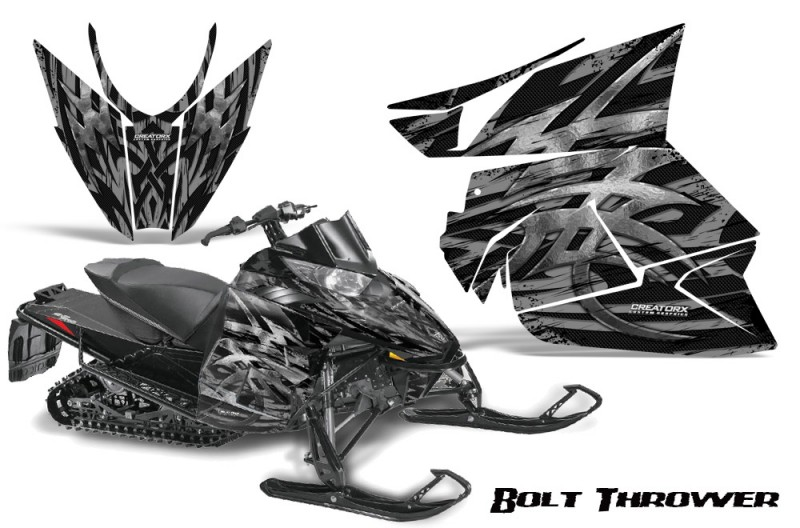 Arctic-Cat-Pro-Climb-Cross-2012-CreatorX-Graphics-Kit-.Bolt-Thrower-Silver