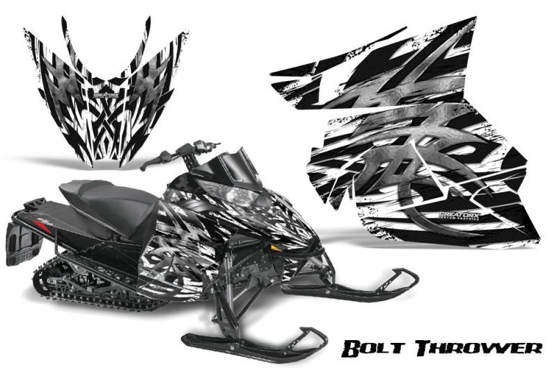 Arctic-Cat-Pro-Climb-Cross-2012-CreatorX-Graphics-Kit-.Bolt-Thrower-White