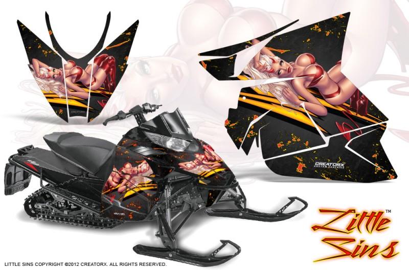 Arctic-Cat-Pro-Climb-Cross-2012-CreatorX-Graphics-Kit-Little-Sins-Black