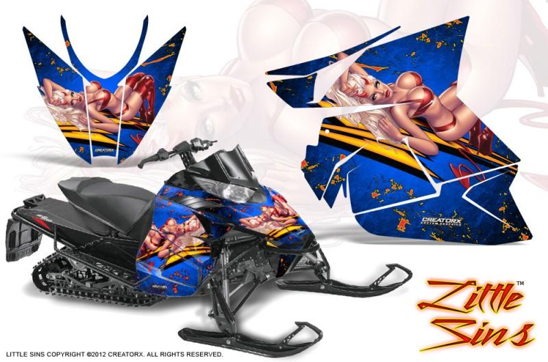 Arctic-Cat-Pro-Climb-Cross-2012-CreatorX-Graphics-Kit-Little-Sins-Blue