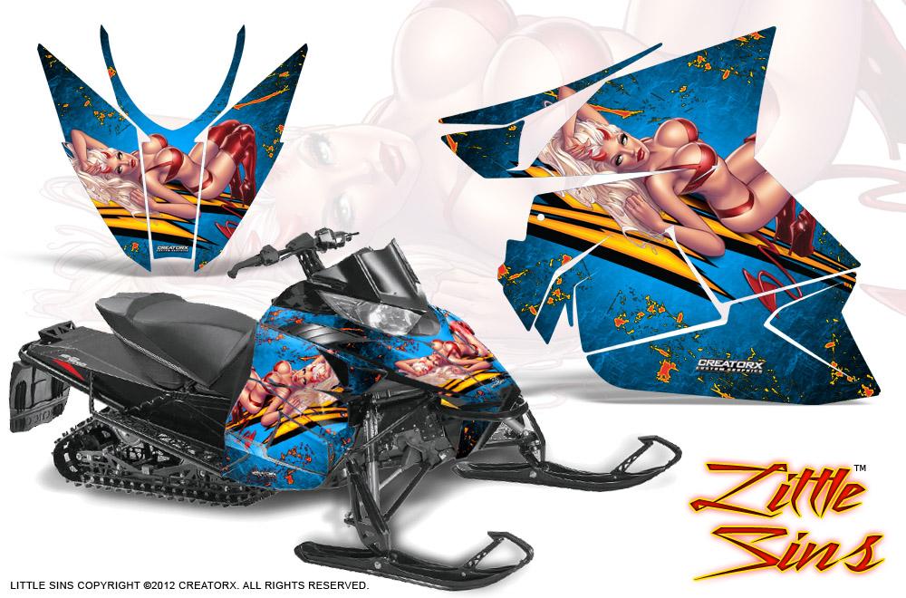 Arctic-Cat-Pro-Climb-Cross-2012-CreatorX-Graphics-Kit-Little-Sins-Blue-Ice