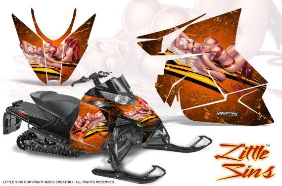 Arctic Cat Pro Climb Cross 2012 CreatorX Graphics Kit Little Sins Orange 570x376 - Arctic Cat ProClimb ProCross SnoPro ZR-XF-M 2012-2016 Graphics