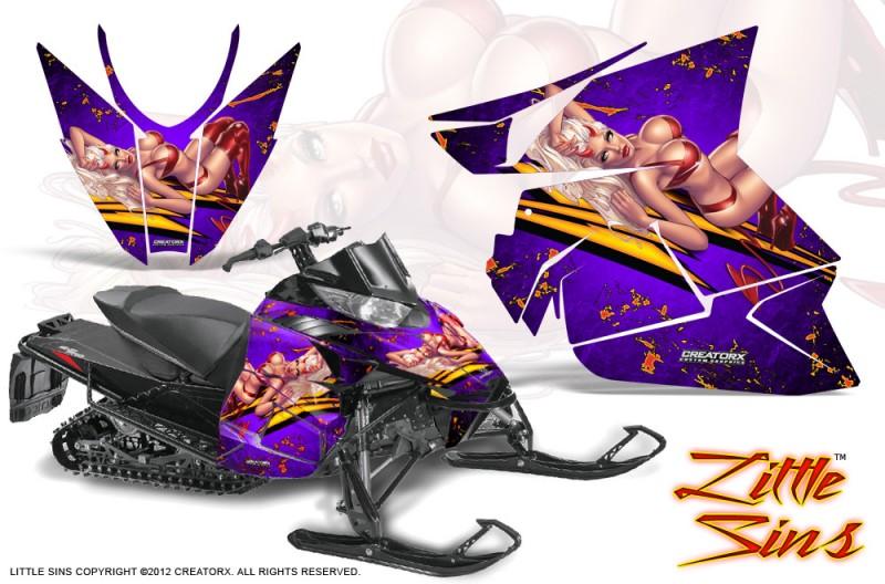 Arctic-Cat-Pro-Climb-Cross-2012-CreatorX-Graphics-Kit-Little-Sins-Purple