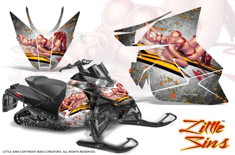 Arctic-Cat-Pro-Climb-Cross-2012-CreatorX-Graphics-Kit-Little-Sins-White