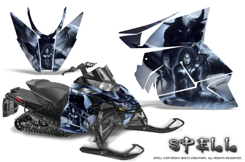 Arctic-Cat-Pro-Climb-Cross-2012-CreatorX-Graphics-Kit-Spell-Silver