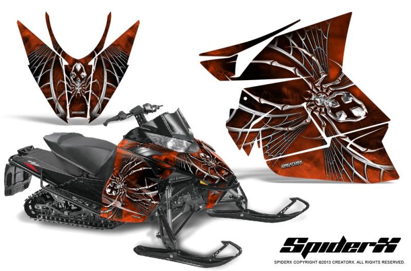 Arctic-Cat-Pro-Climb-Cross-2012-CreatorX-Graphics-Kit-SpiderX-Orange-Dark