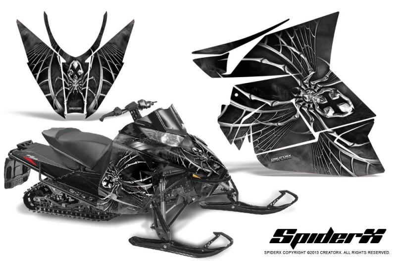 Arctic-Cat-Pro-Climb-Cross-2012-CreatorX-Graphics-Kit-SpiderX-Silver