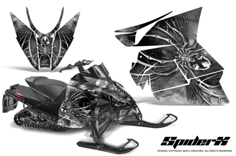 Arctic-Cat-Pro-Climb-Cross-2012-CreatorX-Graphics-Kit-SpiderX-White