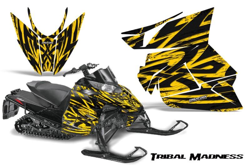 Arctic-Cat-Pro-Climb-Cross-2012-CreatorX-Graphics-Kit-Tribal-Madness-Yellow
