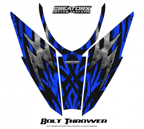 Arctic-Cat-Pro-Climb-Cross-2012-Hood-CreatorX-Graphics-Kit-Bolt_Thrower_Blue