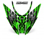 Arctic-Cat-Pro-Climb-Cross-2012-Hood-CreatorX-Graphics-Kit-Bolt_Thrower_Green