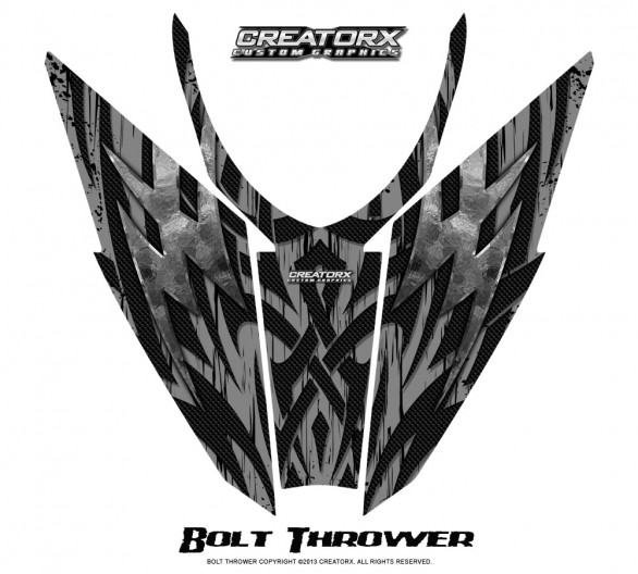 Arctic-Cat-Pro-Climb-Cross-2012-Hood-CreatorX-Graphics-Kit-Bolt_Thrower_Silver