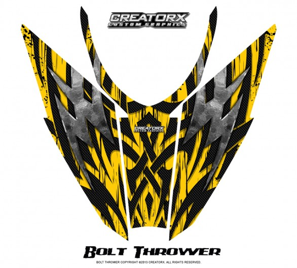 Arctic-Cat-Pro-Climb-Cross-2012-Hood-CreatorX-Graphics-Kit-Bolt_Thrower_Yellow