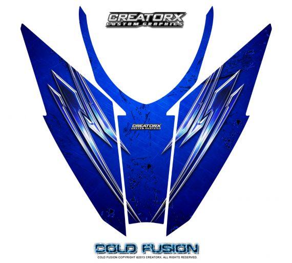 Arctic Cat Pro Climb Cross 2012 Hood CreatorX Graphics Kit Cold Fusion Blue 570x513 - Arctic Cat ProClimb ProCross SnoPro 2012-2016 Hood Graphics