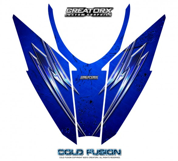 Arctic-Cat-Pro-Climb-Cross-2012-Hood-CreatorX-Graphics-Kit-Cold-Fusion-Blue