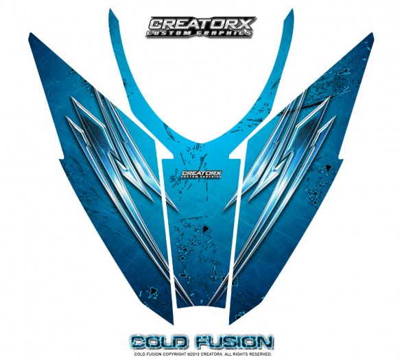 Arctic-Cat-Pro-Climb-Cross-2012-Hood-CreatorX-Graphics-Kit-Cold-Fusion-BlueIce