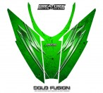 Arctic-Cat-Pro-Climb-Cross-2012-Hood-CreatorX-Graphics-Kit-Cold-Fusion-Green